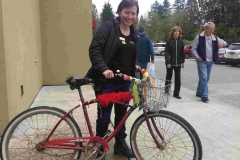 Ever seen our farm bike? Melissa took it for a spin during Bee Sweet