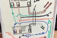 These plans demonstrate how the electric box truck is wired.