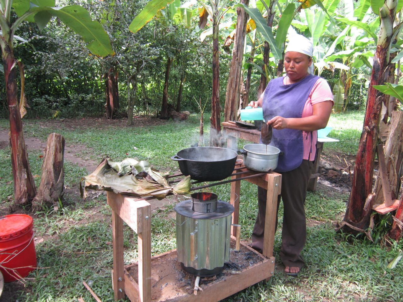 Biochar stove for cooking