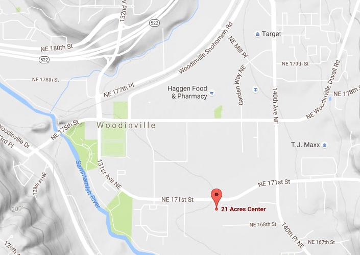 Location of 21 Acres