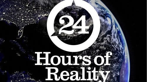 Help spread truth in action: 24 hours of Climate Reality, November 20-21, 2019